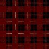 Plaid check pattern in red, black and white. Seamless fabric texture. royalty free illustration