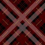 Plaid check pattern in red, black and white. Seamless fabric texture. eps10 royalty free illustration