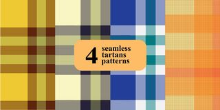 Plaid checkered pattern in different colors. stock illustration