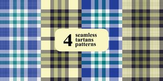 Plaid checkered pattern in different colors. vector illustration