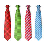 Plaid, checkered silk ties template Stock Photography