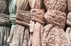 Soft and colored plaid of chenille. Plaid of chenille Stock Photography