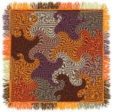 Plaid coloré de guingan d'édredon avec le profil onduleux Photos stock