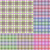 Plaid colorful seamless pattern set Stock Photography