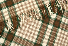 Plaid controllato di lana e marrone Immagini Stock