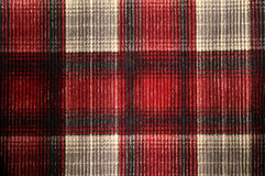 Plaid Corduroy Texture. Plaid in a red, black and white corduroy pattern. Great for textures, design, elements, backgrounds and more Royalty Free Stock Image