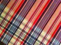 Plaid Cotton fabric of colorful background and abstract texture. Plaid Cotton fabric of colorful background Royalty Free Stock Photography