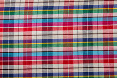 Plaid Cotton fabric of colorful background and abstract texture Royalty Free Stock Photography