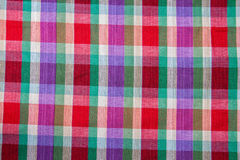 Plaid Cotton fabric of colorful background and abstract texture Stock Photo