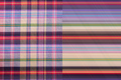 Plaid Cotton fabric of colorful background and abstract texture Royalty Free Stock Photo