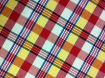 Plaid Cotton fabric of colorful background and abstract texture Royalty Free Stock Image