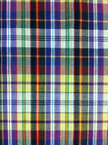 Plaid Cotton fabric of colorful background and abstract texture Stock Images