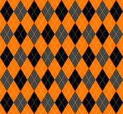 Plaid de chaussette avec des losanges de Halloween Fond écossais de cage Image stock