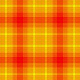 Plaid de jaune orange images libres de droits