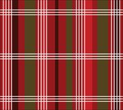 Plaid de Noël Photographie stock