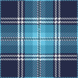 Plaid de tartan sans couture bleu Photographie stock