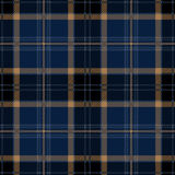 Plaid de tartan sans couture bleu Photo stock
