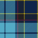 Plaid de tartan sans couture bleu Images stock