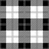 Plaid de tartan sans couture noir illustration libre de droits