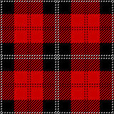 Plaid de tartan sans couture rouge Photographie stock libre de droits