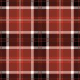 Plaid de tartan sans couture rouge illustration stock