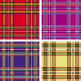 Plaid de tartan sans joint Photographie stock