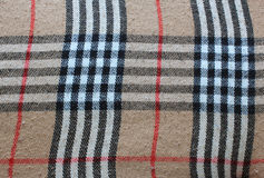 Plaid de tartan traditionnel Photographie stock libre de droits