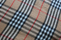 Plaid de tartan traditionnel Photographie stock