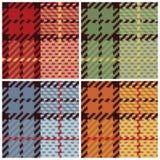Plaid del pixel in quattro Colorways Immagini Stock