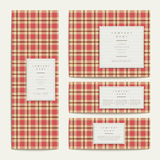 Plaid design banners set in red Royalty Free Stock Photography