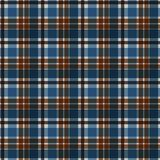 Plaid Seamless Pattern. Plaid design in colors of blue and brown stock illustration