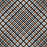 Plaid Seamless Pattern. Plaid design in colors of blue and brown vector illustration