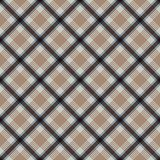 Plaid Seamless Pattern. Plaid design in colors of blue and brown royalty free illustration