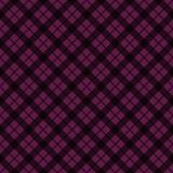 Plaid Seamless Pattern. Plaid design in colors of plum, purple, pink, and magenta stock illustration
