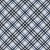 Plaid Seamless Pattern. Plaid design in colors of slate gray and blue stock illustration