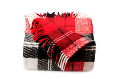 Plaid di lana Fotografia Stock