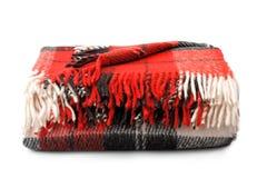 Plaid di lana Fotografie Stock