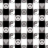 Plaid di pace nel nero Immagine Stock