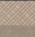 Plaid with dots and burlap patterns Royalty Free Stock Image