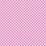Valentine`s Day Gingham Seamless Pattern vector illustration