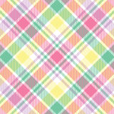 Plaid en pastel Photographie stock