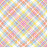 Plaid en pastel de piste Images libres de droits