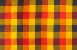 Plaid fabric. Colorful plaid fabric pattern as the background Royalty Free Stock Photo