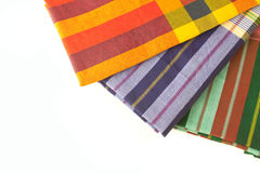 Plaid fabric. Colorful plaid fabric collection pattern as background Stock Images