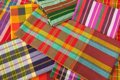 Plaid fabric Royalty Free Stock Photos