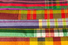 Plaid fabric. Colorful plaid fabric collection pattern as background Royalty Free Stock Photos