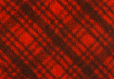Plaid Fabric. Red and Black Plaid Fabric stock photos