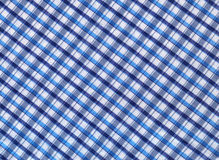 Plaid fabric. In blue colors stock images