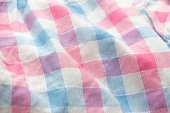 Plaid fabric background Royalty Free Stock Photo