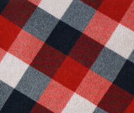 Plaid fabric. With big cells royalty free stock image